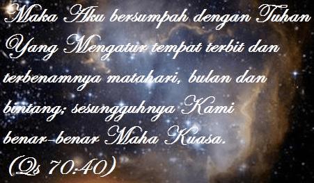 Allah bersumpah kepada Diri-Nya sendiri dalam Quran dan Bible